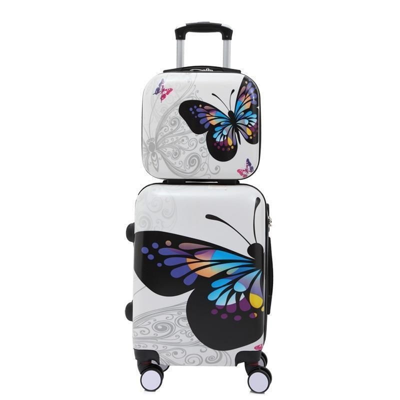 Viagem Valigia Walizka Turystyczna Travel Valise Cabine Mala Colorful Trolley Valiz Carro Maleta Suitcase Luggage 20