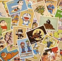 32 pcs Comique De Voeux Cartes Collector Nostalgie Rétro Cartes Postales carte de Bande Dessinée 10x14 cm Carte Postale Bureau Fournitures Scolaires