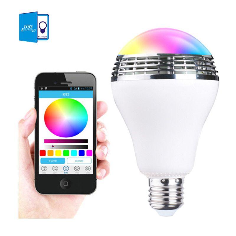 [DBF] Intelligent E27 10 W RGB LED Musique Ampoule Éclairage Intelligent Coloré Dimmable Ampoule Haut-Parleur Avec APP Télécommande