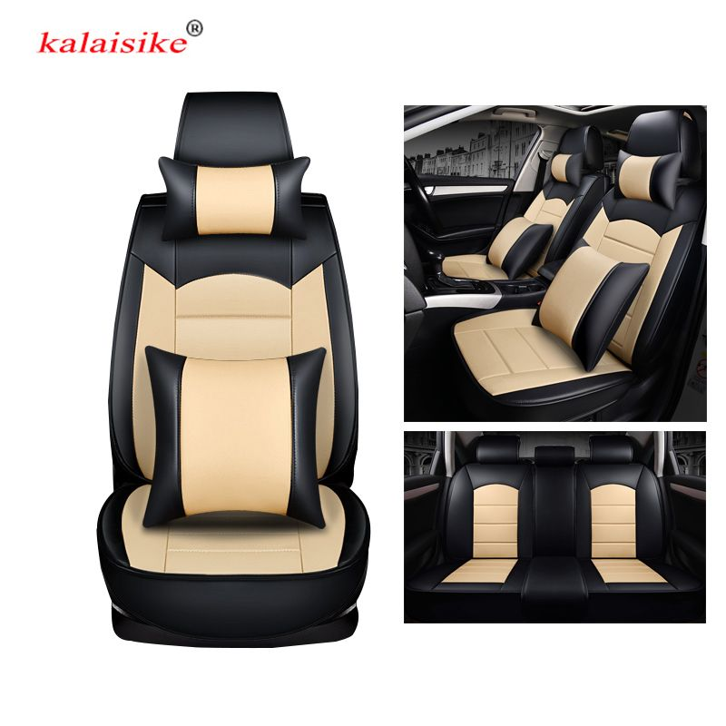 kalaisike leather universal car seat covers for Citroen all models c4 c5 c3 C6 Elysee Xsara C-Quatre Picasso car styling