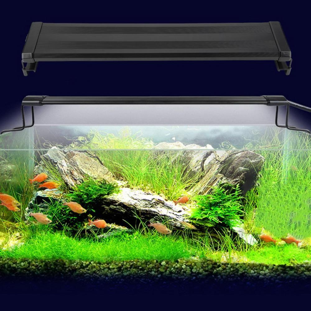 Aquarium Fish Tank Smd Led Light Lamp 11W 2 Mode 50Cm 60 White + 12 Blue Eu/Uk/Us Plug Marine Aquarium Led Lighting Aquario