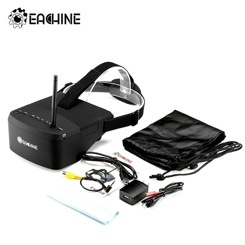 (In Stock)New Arrival Eachine EV800 5 Inches 800x480 FPV Video Goggles 5.8G 40CH Raceband Auto-Searching Build In <font><b>Battery</b></font>
