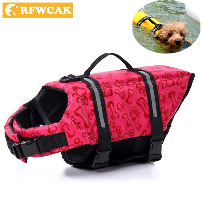 RFWCAK Pet gilet réfléchissant aquatique flotteur gilet chien chat économiseur gilet de sauvetage vêtements de sécurité pour surf natation gilet maillots de bain