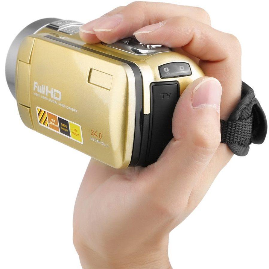 CHAUDE Portable vision nocturne Full HD 1920x1080 3.0 Pouces 24MP écran tactile lcd 18X Zoom Numérique caméra vidéo Caméscope DV 2017 Nouveau