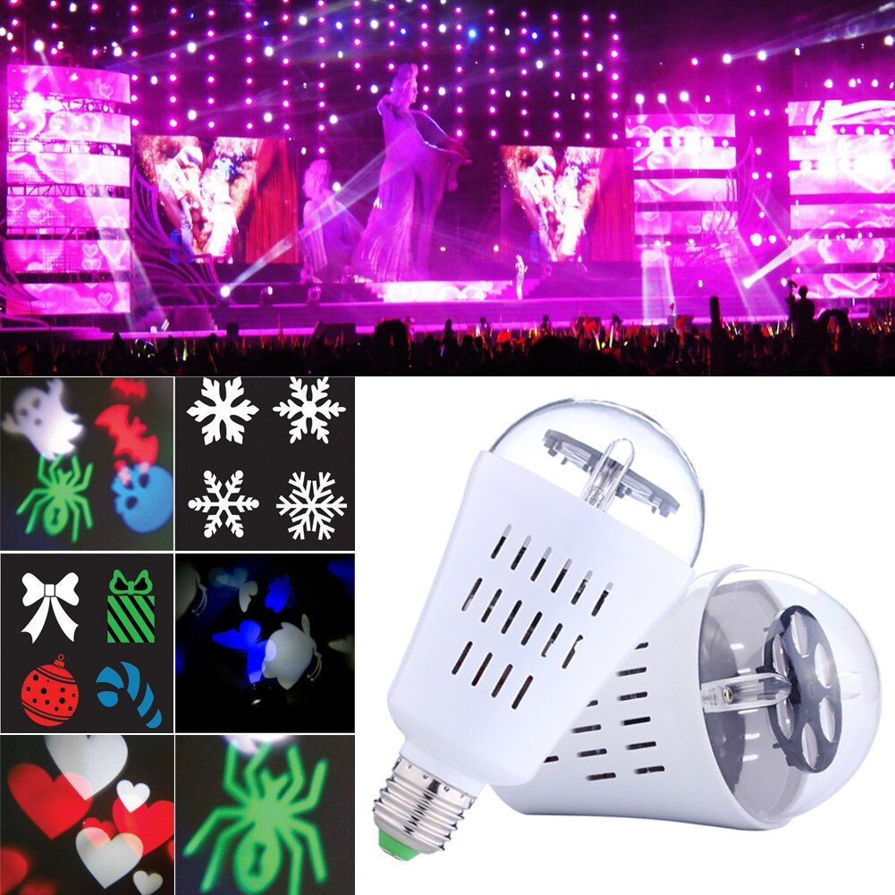 4 watt e27 4 stücke led rotierenden rgb lampe kristallkugel bühnenlicht mehrere muster party disco dj effekt birne ac90-240v ng4s