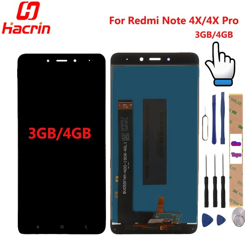 Xiaomi Redmi Note 4X LCD Display + Touch Screen Digitizer Replacement Test-Good For Xiaomi Redmi Note 4X Pro 5.5