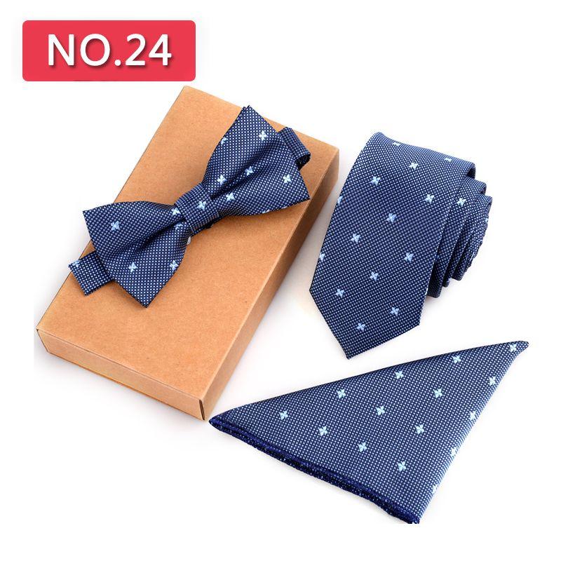Mode 3 STÜCKE Schlank Krawatte Set Männer Fliege Taschentuch Bowtie Homme Krawatte Cravate Noeud Papillon Mann Corbatas Hombre Pajarita F1