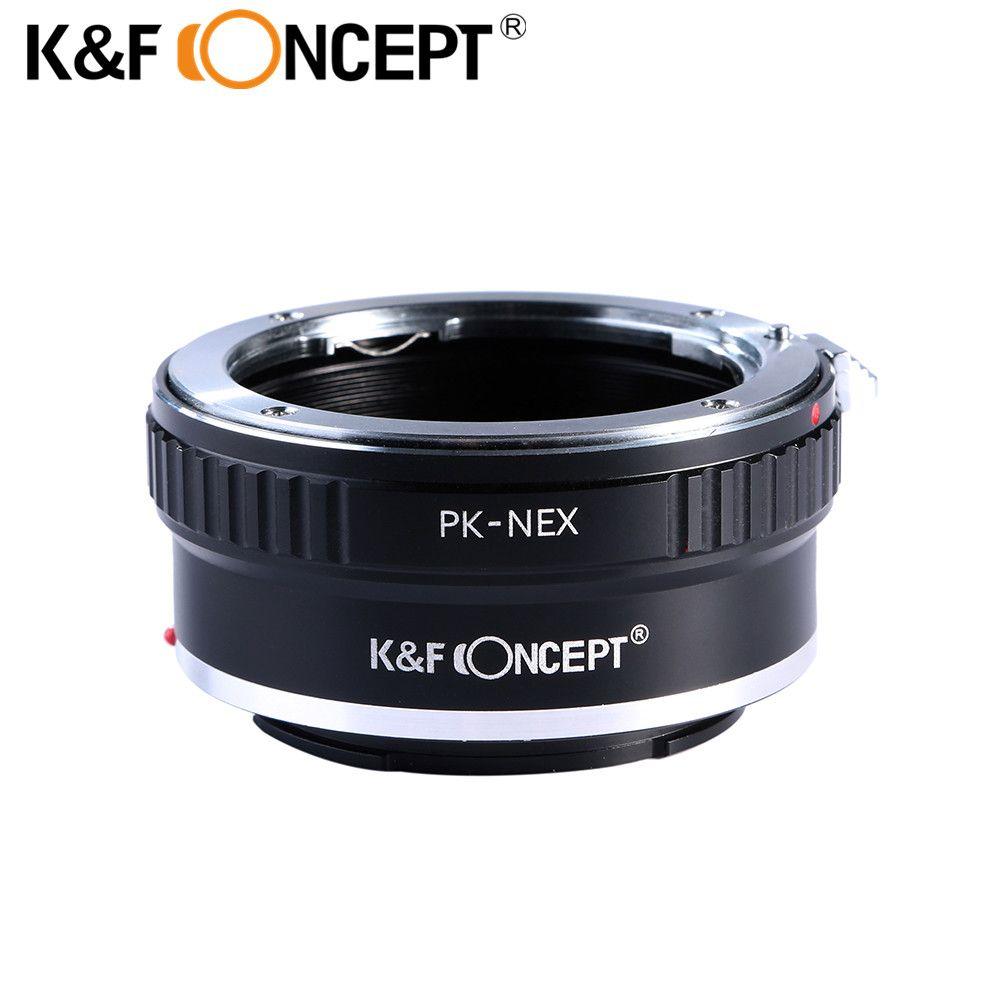K & F Concept PK-NEX adaptateur de montage d'objectif de caméra pour Pentax PK K objectif de montage sur Sony NEX e-mount corps de caméra Sony NEX-3, NEX-5, NEX-6