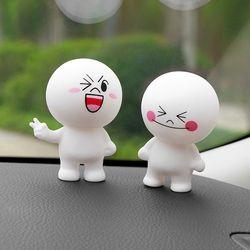 Car Ornament Cartoon Doll Adornment Cute Expression Car Decoration Dashboard Auto Interior Decor Car Accessories for Gifts 7cm