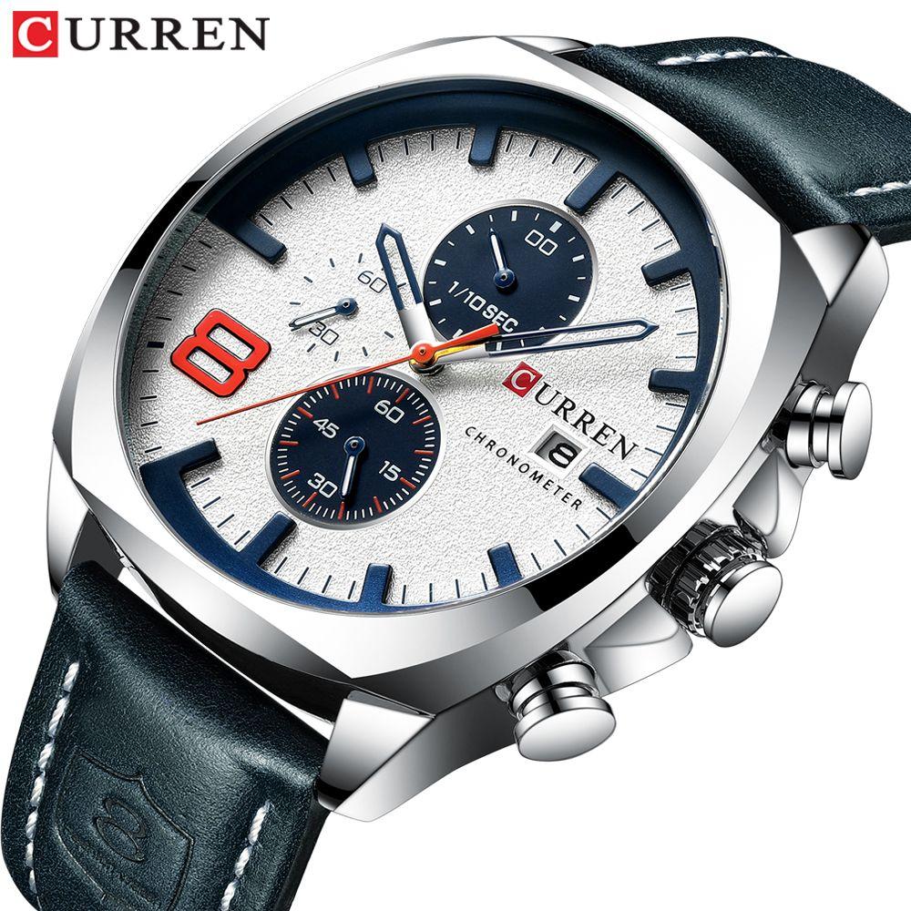 2019 Men Watches Top Brand Luxury CURREN Military Analog Quartz Watch Men's Sport Wristwatch Relogio Masculino Waterproof 30M