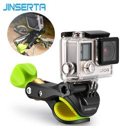 JINSERTA Universal Bicycle Handlebar Clamp 17mm- 68mm for all bike shoot for Gopro Hero 6 5 4 3 + 3 Sports Camera Accessories