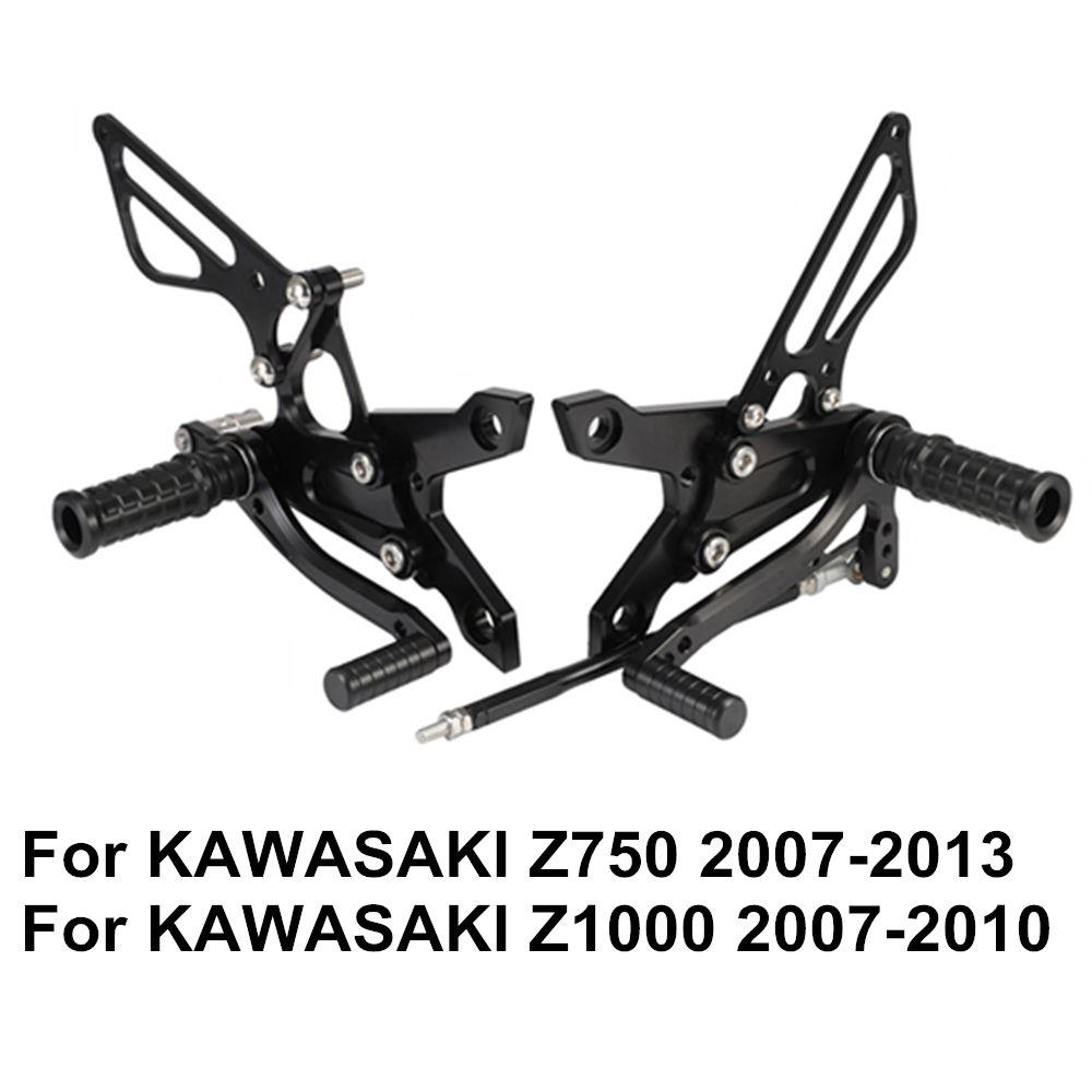 Z750 2007-2013 Z1000 2007-2010 Einstellbare Aluminium Legierung CNC Motorrad Hinten Gesetzt Fußrasten Fußrasten Für KAWASAKI