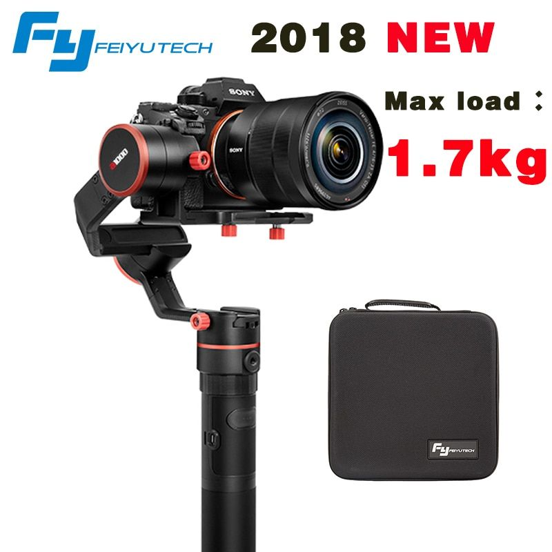 2018 NEWEST FeiyuTech feiyu a1000 3 Axis Gimbal Stabilizer Handheld for NIKON SONY CANON DSLR Camera Gopro Action 1.7kg Payload
