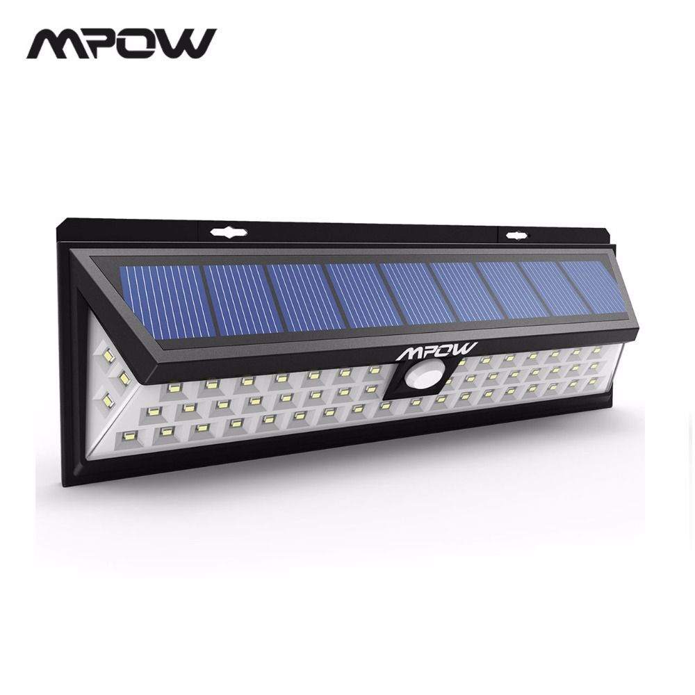Mpow CD020 54 LED Night Light IP65 Waterproof Solar Lights <font><b>Wide</b></font> Angle LED Solar Powered Lamp Outdoor For Garden Wall Yard Patio