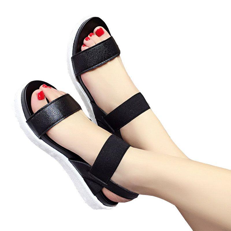 Livraison gratuite 2019 été léopard grain sandales femmes sandales chaussures femme peep-toe chaussures plates sandales romaines femmes sandales