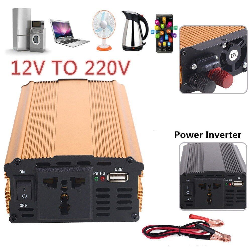2018 Power Car Inverter 12V 220V 3000W Converter Transformer DC 12V To AC 220V Premium Car Inverter Travel Stable Truck Vehicles