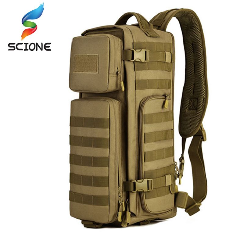 Men Chest Sling Backpack Men's One Single Shoulder Male Large Travel Military Backpacks Cross body Bags Outdoors Rucksack Bag