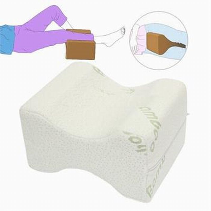 Memory Foam Knee Leg <font><b>Pillow</b></font> Bed Cushion Wedge Pressure Relief Sleep Support Aid