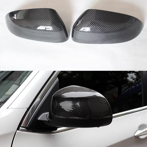 1:1 Replacement 3D sticker style carbon fiber side view mirror cover Trim for BMW X3 F25 X4 F26 X5 F15 X6 F16 2014-2017