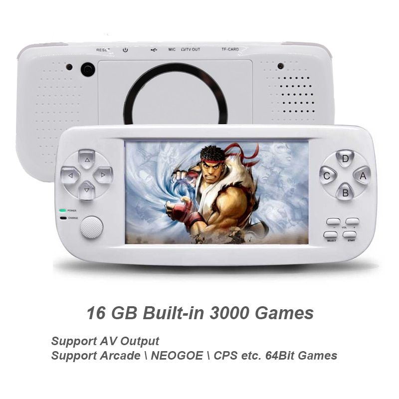 New 64 Bit 4.3 Inch Built-in 3000 Games PAP K3 For CP1/CP2/GBA/FC/NEO/GEO Format Games Portable HD Handheld Video Game Console