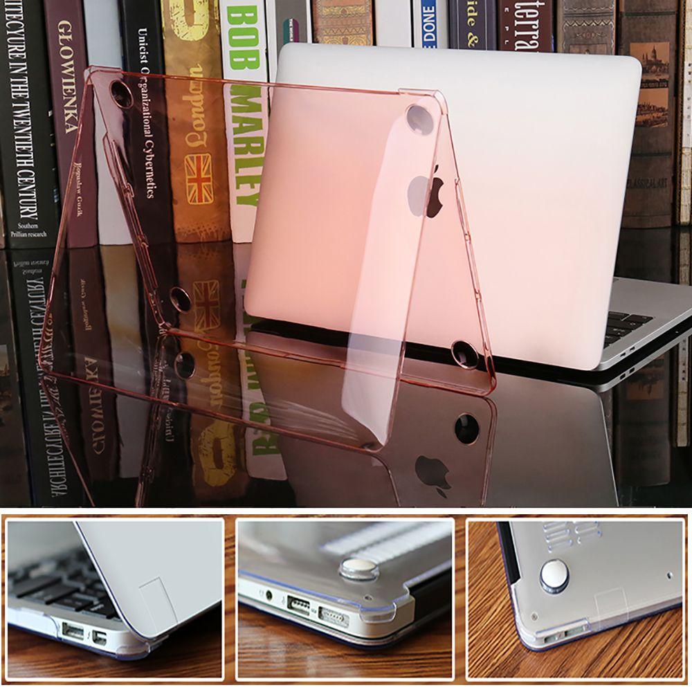 Coque d'ordinateur portable cristal dur étui pour MacBook Air Pro Retina 11 12 15 13.3 pouces tablette tactile ID pour MacBook New Air 13 A1932 2018 Case