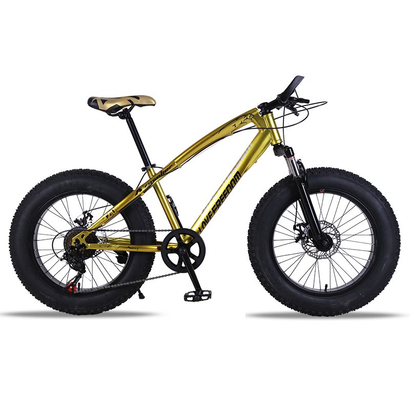 Bicycle Mountain bike 7/21speed Fat Road Snow bike 20*4.0 Front and Rear Mechanical Disc Brake