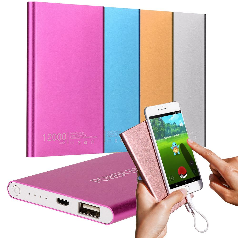 Ultrathin 4000mAh Portable USB External Battery Charger Power Bank for iPhone for Samsung for HUAWEI External Battery Pack