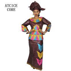 Africain robes pour femmes 100% COTON NOUVEAU MODE AFRICAINE DEISGN BAIZN RICHE BRODERIE vêtements traditionnels africains