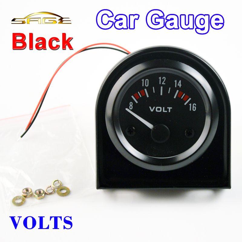 Dragon Gauge VOLTS Car Gauge 2 52mm VOLT Meter 12V Auto Instrument Voltage Meters 8~16V Black Bezel