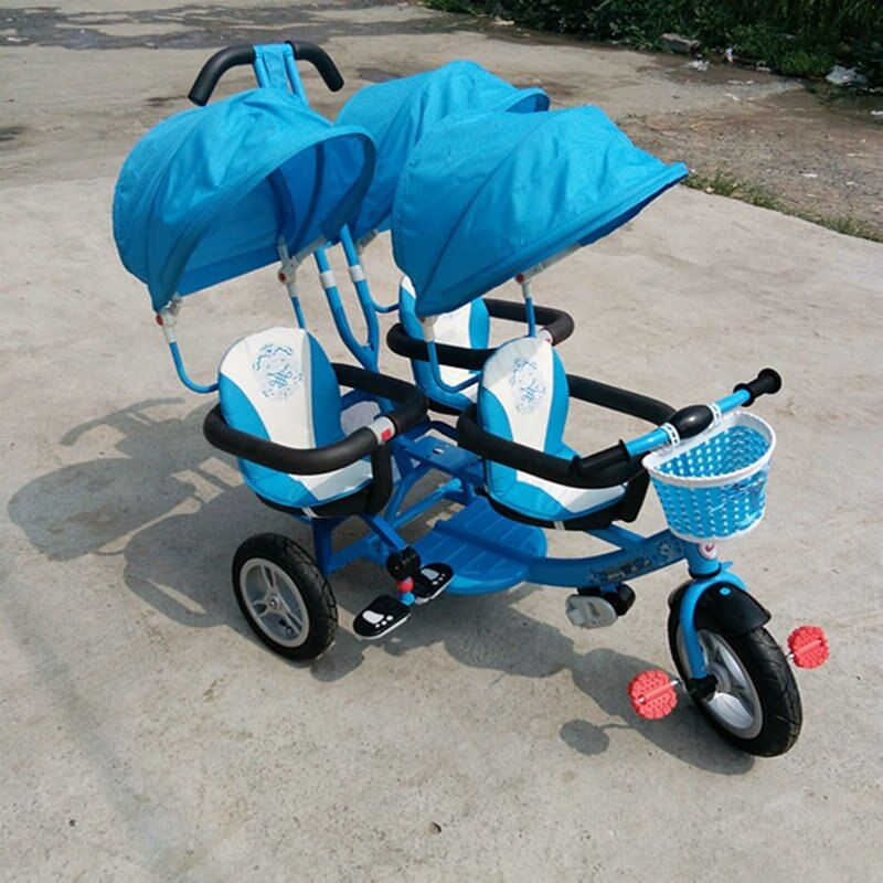 three baby tricycle new arrival triple baby stroller with umbrella three seats baby carriage