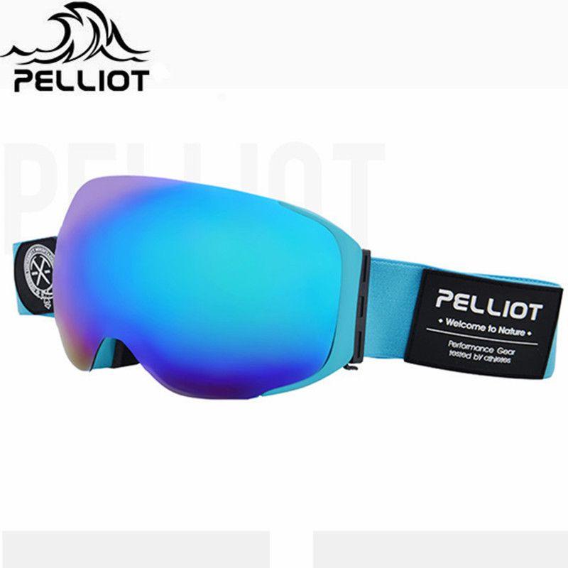 Pelliot Marke Skibrillen Doppelschichten Anti-fog UV400 Outdoor Ski Gläser Neue Ski Snowboardbrille Männer Frauen Schnee brille