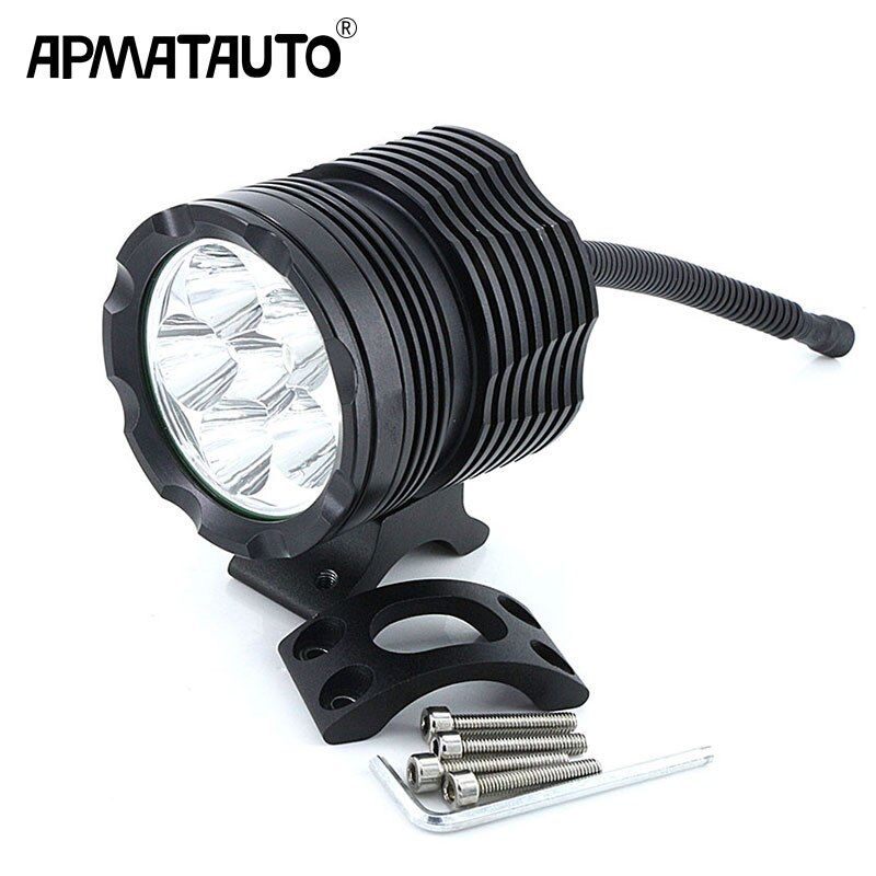 1X White 6000K 8000LM Super Bright With CREE Chip LED Motorcycle Headlight Fog Spot HeadLamp Spotlight Waterproof Motorbike Bulb