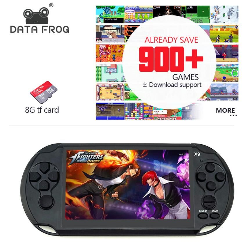 Data Frog Handheld Game For GBA Portable Games Consoles Built-in 3000 Classic Games MP5 Child Game Console With 5.0