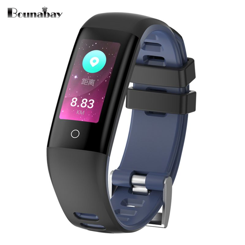 BOUNABAY Multi-lingual  Smart Bluetooth Bracelet watch for women touch watches Android ios phone ladies waterproof lady clock