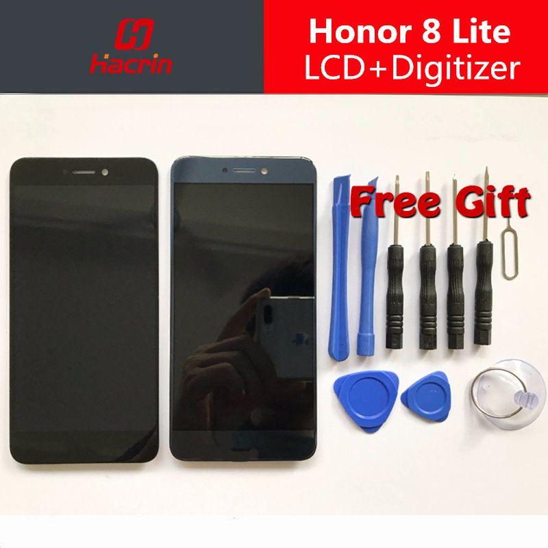 Pour Huawei Honor 8 Lite LCD affichage Écran Tactile Bon Test Digitizer Assemblée Remplacement Pour Huawei P8 Lite 2017/GR3 2017 5.2