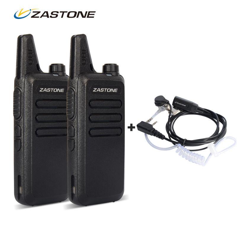 Zastone ZT-X6 Mini Walkie Talkie Pair Headset UHF 400-470Mhz Frequency Portable Handheld Radio Comunicador Two Way Amateur Radio