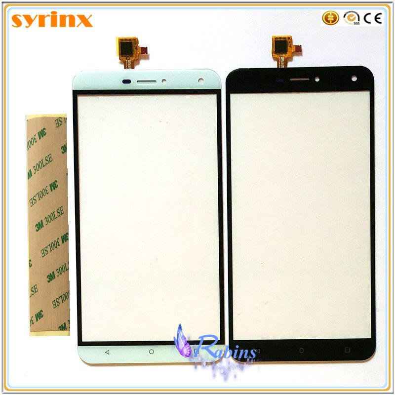 SYRINX 3M TAPE Touch Screen Front Glass Lens For Oukitel U11 plus Touch Panel Sensor Digitizer Replacement Touchscreen
