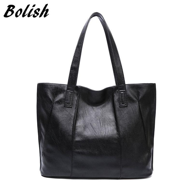 Bolish Wasserdicht Pu-leder Frauen Handtasche Größere Größe Weiblichen Umhängetasche Casual Mädchen Einkaufstasche