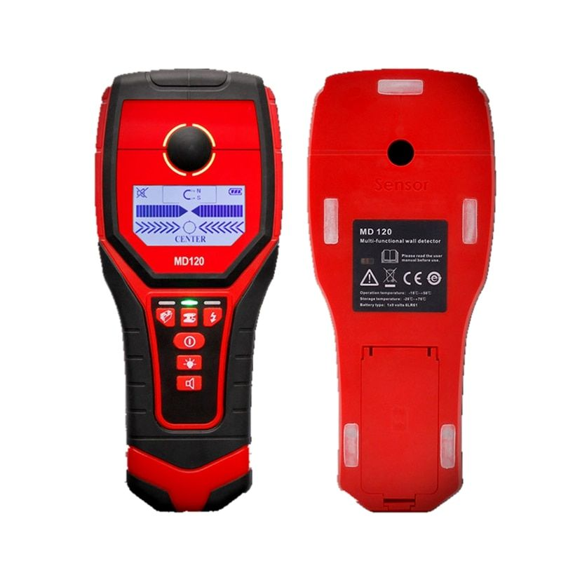 Portable Wall Detector Magnetic Metal Copper Wood AC Charged Cable Wall Scanner Backlit Beep Indication Wall Diagnostic Tools