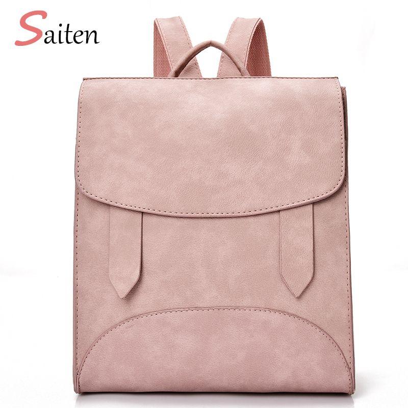 High Quality Women Backpack Leather Bags New <font><b>Arrival</b></font> 2017 Backpacks For Teenage Girls Fashion Bag Woman Back Pack Bolsa Mochila