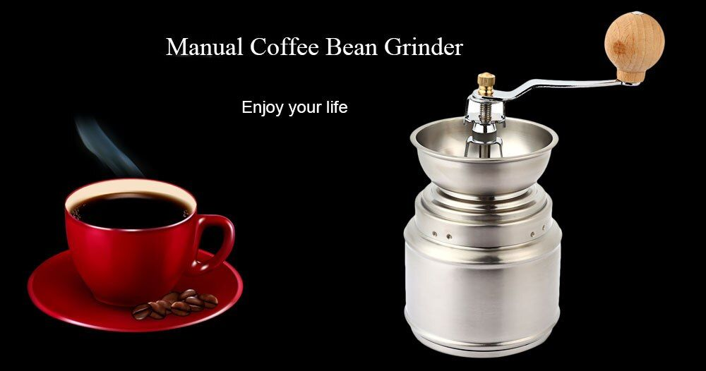 Portable Coffee Grinder Stainless Steel Adjustable Manual Ceramic Coffee Grinder Bean Miller Household Grinder for Coffee Salt