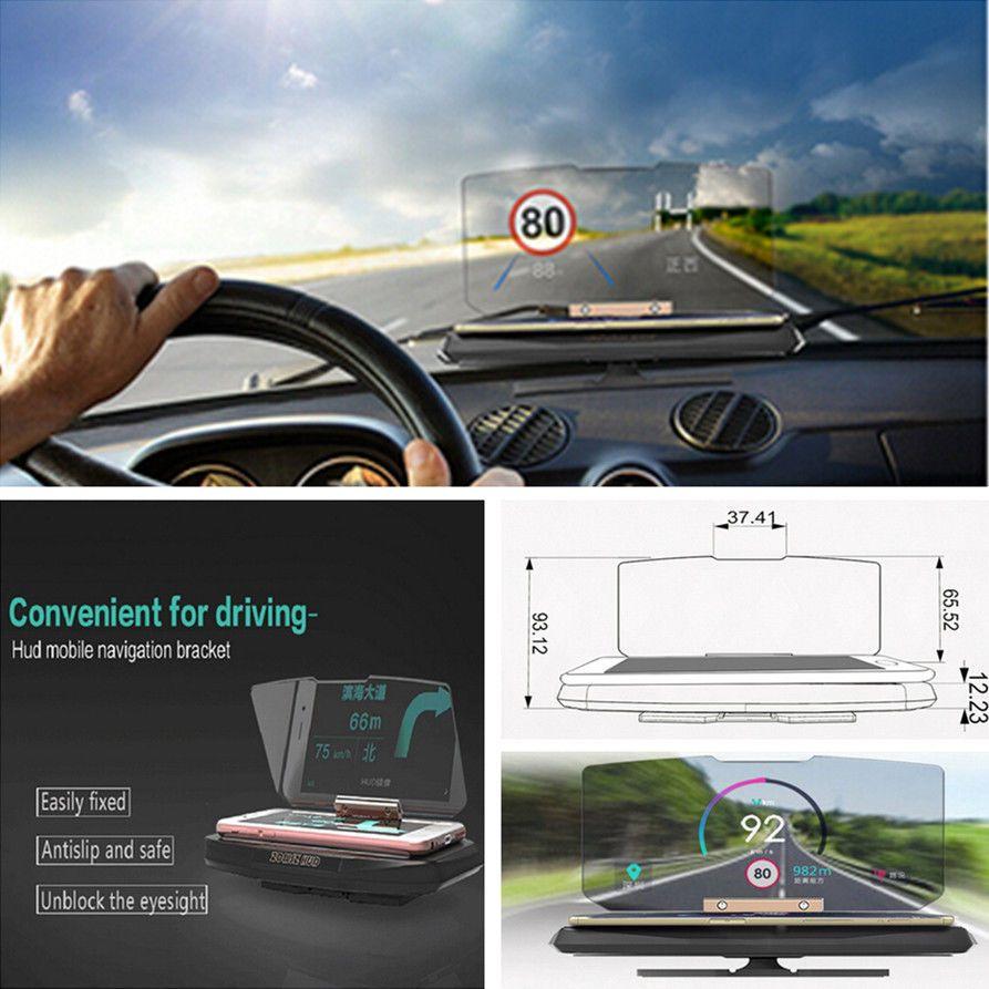 Universal mobile téléphone soutien Navigation Montage Voiture GPS HUD Head Up soutien support D'affichage De Projection OEM
