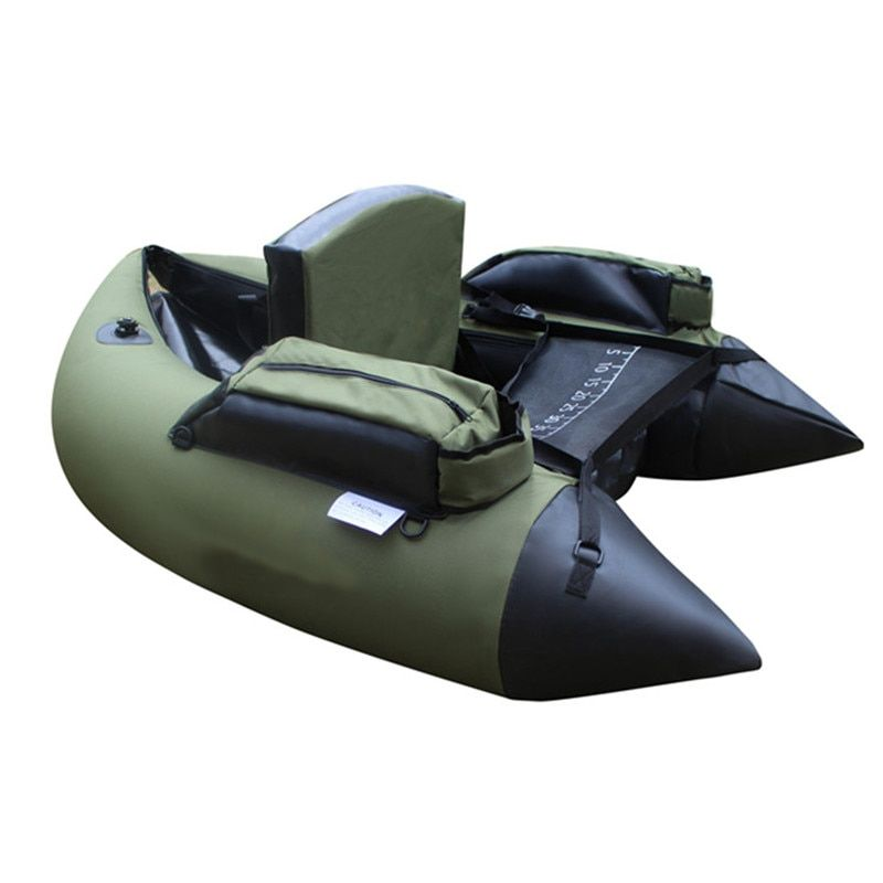 Professional Inflatable Fishing Catamaran PVC Rubber Boat for Fishing Kayak 1 Person Inflatable Fishing Chair Single Rowing Boat