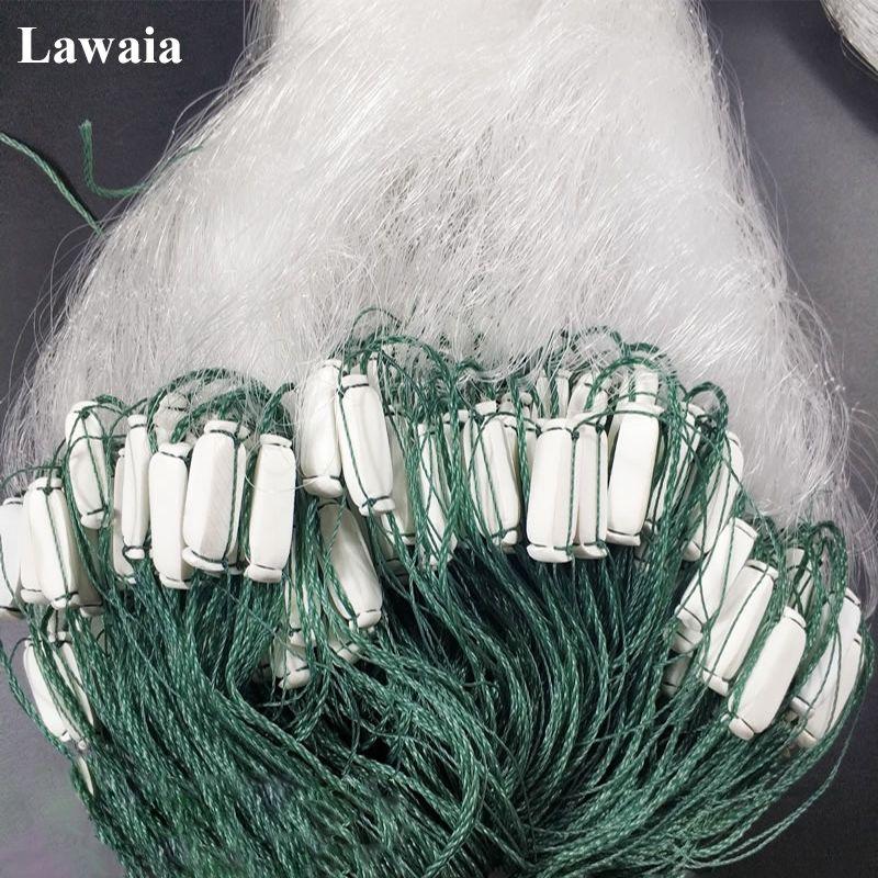 Lawaia Fischernetze Klebrigen Mesh Drei-schicht Klebrige Netze Mit Schwimmt 1,5 mt Hohe 70 mt Lange Weiß Seide bold Draht Mesh Hängen Netzwerk