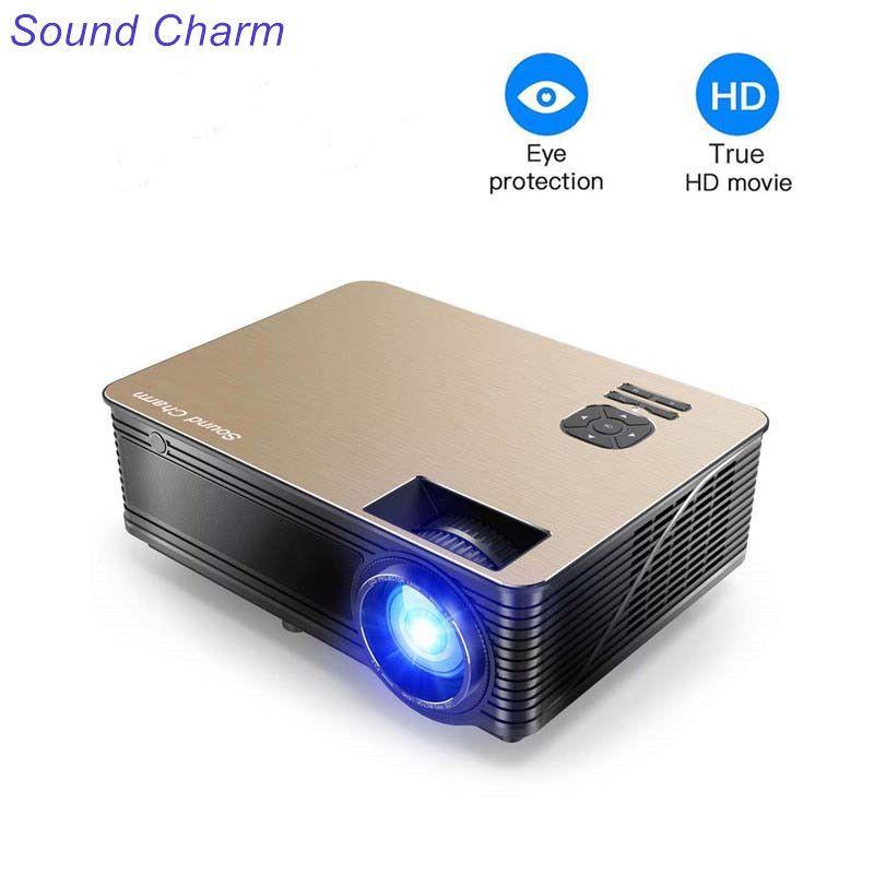 Sound Charm Full HD 5500 Lumens LED Video Home Projector With 2HDMI 2USB AV VGA Ports