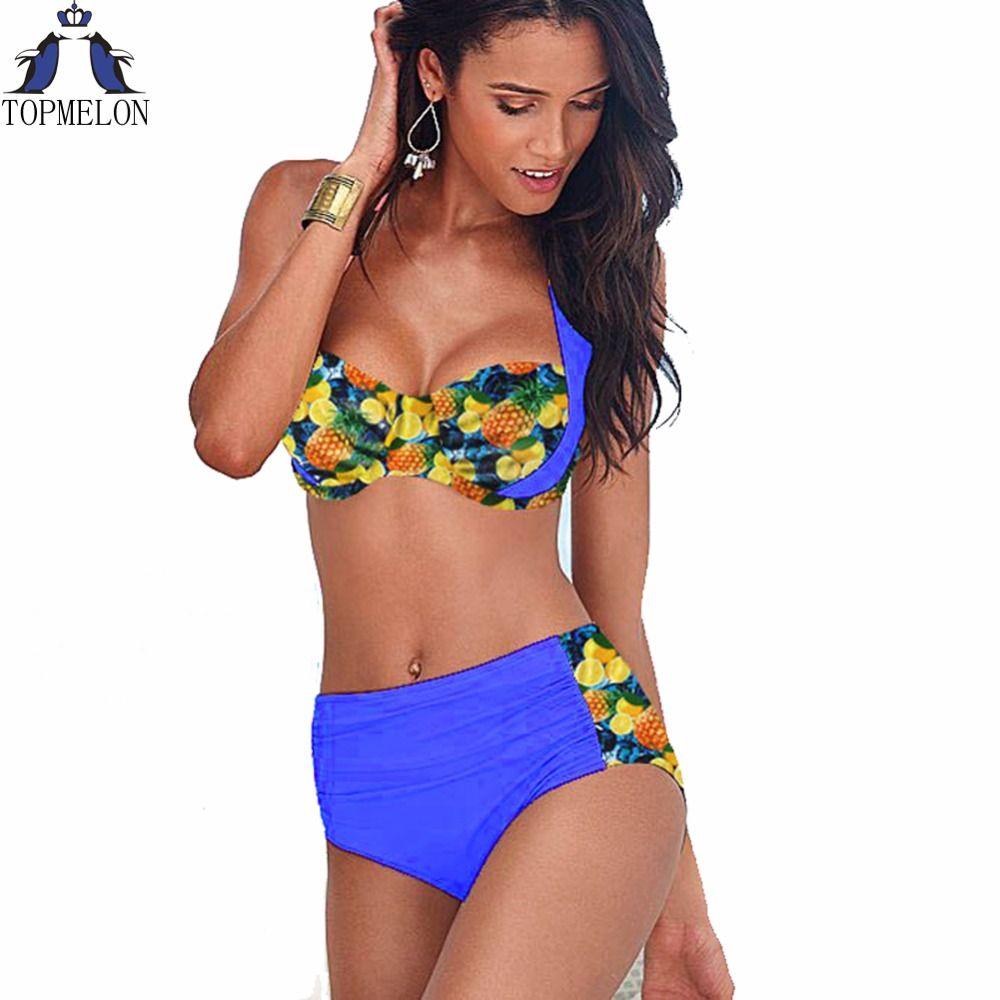 Badeanzug hohe taille badeanzug bikini set badeanzug frauen bademode 2016 badeanzug push up bikini plus größe badesachen