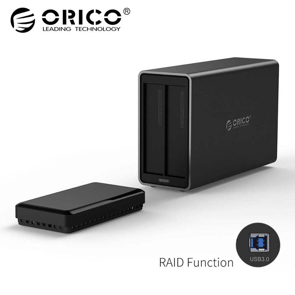 ORICO NS200RU3 2 Bay USB3.0 Festplatte Dock mit Raid Unterstützung 20 tb lagerung USB3.0 5 Gbps UASP mit 12V4A adapter HDD Gehäuse