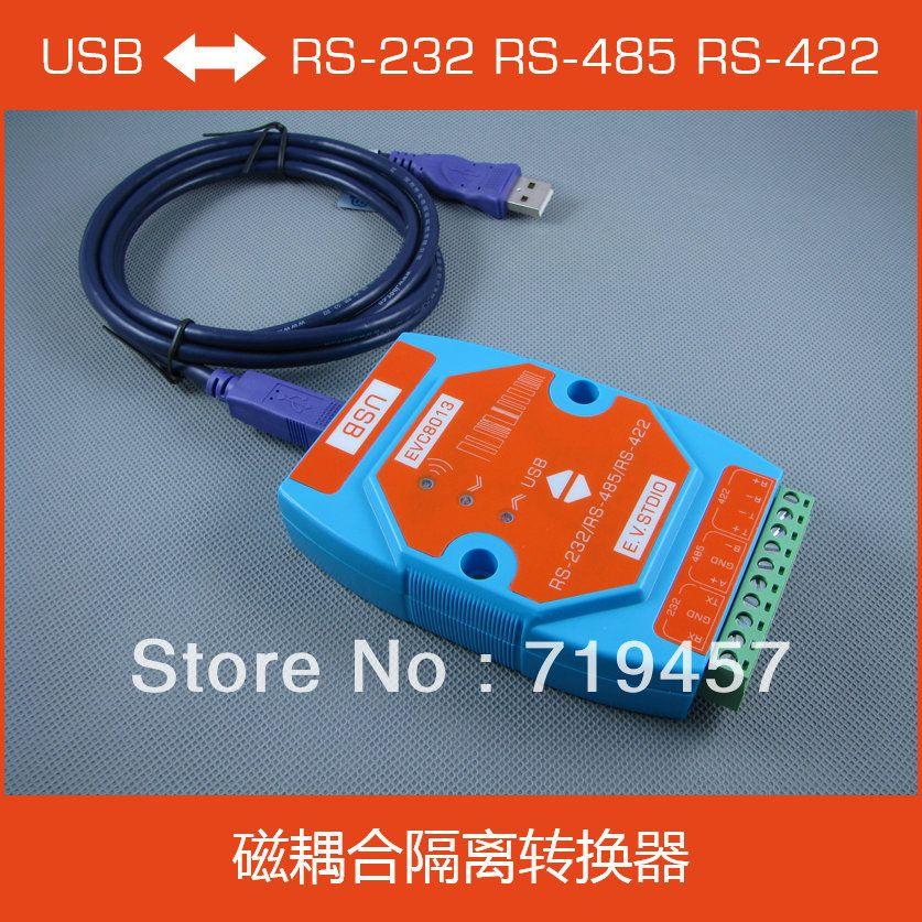 Envío libre Evc8013 USB a Serie aislamiento convertidor RS-232 RS-485 RS-422 aislamiento magnético