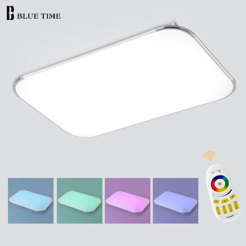 NEW Modern LED Ceiling Light With 2.4G RF Remote Group Controlled <font><b>Dimmable</b></font> Color and RGB Changing Lamp For Livingroom Bedroom
