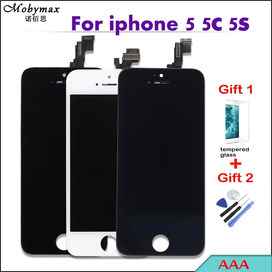 AAA Pantalla For iPhone 5 5s Capacitive Screen display LCD Kit Module for iPhone SE 5C Digitizer Assembly Replacement with gifts